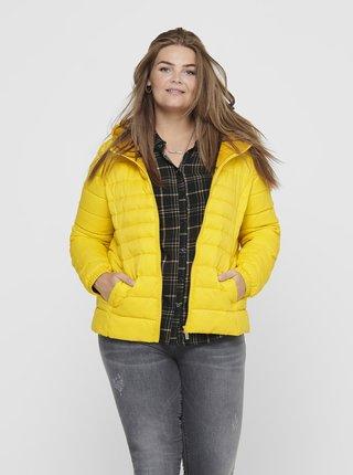 Žltá prešívaná bunda ONLY CARMAKOMA Tahoe