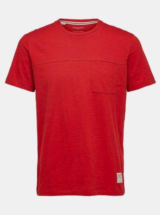 Červené tričko Selected Homme Ethan