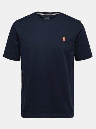 Tmavomodré tričko Selected Homme Hype