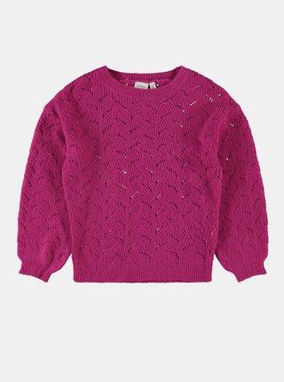 Ružový dievčenský sveter name it Nelea