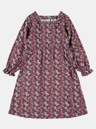 Zeleno-ružové dievčenské kvetované šaty name it Nolah