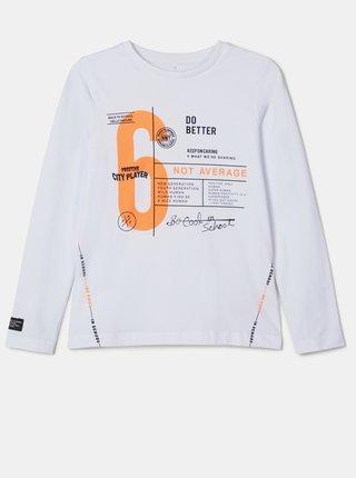 Bílé klučičí tričko name it Naka
