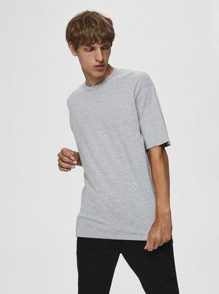 Světle šedé tričko Selected Homme Malcolm