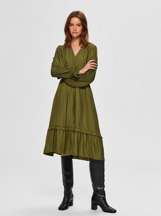 Rochii casual pentru femei Selected Femme - verde