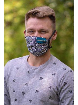 Differenta Design unisex rúško so šijacími strojmi a s vrecúškom
