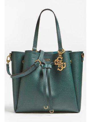Guess lahvově zelená kabelka Digital Charm Maxi Shoulder Bag