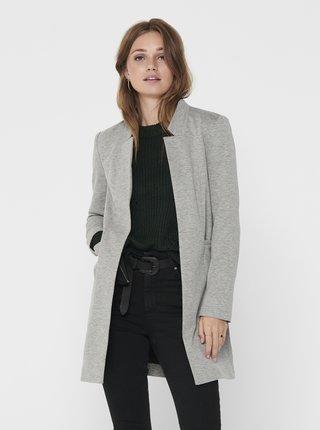 Světle šedý lehký kabát ONLY Penny