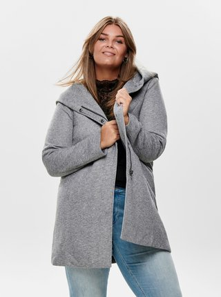 Světle šedý lehký kabát ONLY CARMAKOMA Sedona