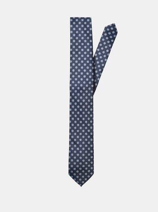 Tmavomodrá bodkovaná kravata Selected Homme Hudson