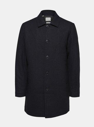Tmavě modrý kabát s příměsí vlny Selected Homme James