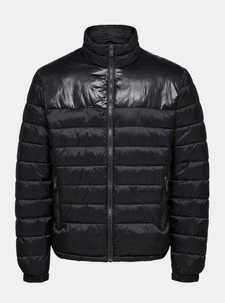 Černá prošívaná bunda Selected Homme Athan