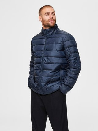 Tmavomodrá prešívaná bunda Selected Homme Plastic