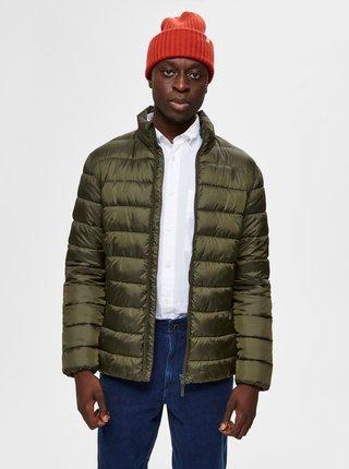 Khaki prosívaná bunda Selected Homme Plastic