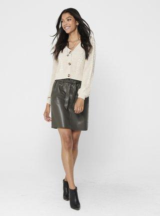 Šedá sukně s povrchovou úpravu ONLY Rigie