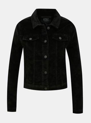 Čierna menčestrová bunda ONLY Touch