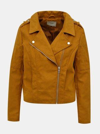 Hnedá bunda v semišovej úprave Jacqueline de Yong New Peach