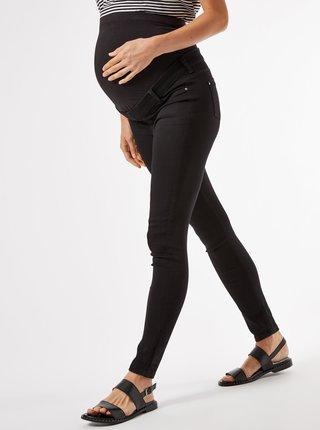 Čierne tehotenské skinny fit rifle Dorothy Perkins Maternity