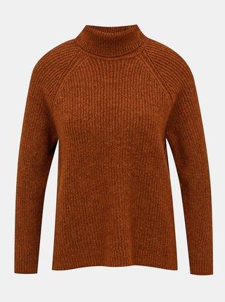 Hnedý sveter s rolákom ONLY Jade