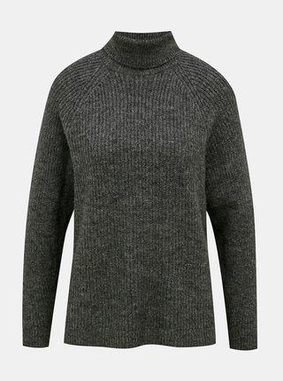 Šedý sveter s rolákom ONLY Jade