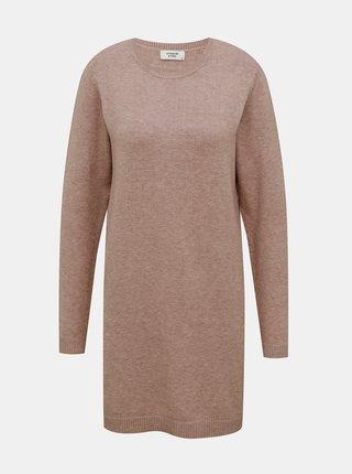 Starorůžové svetrové šaty Jacqueline de Yong Marco