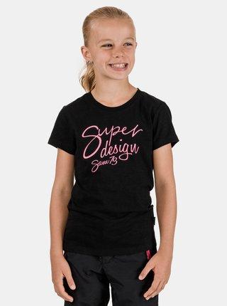 Čierne dievčenské tričko SAM 73