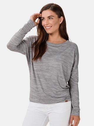 Šedé dámské žíhané tričko SAM 73