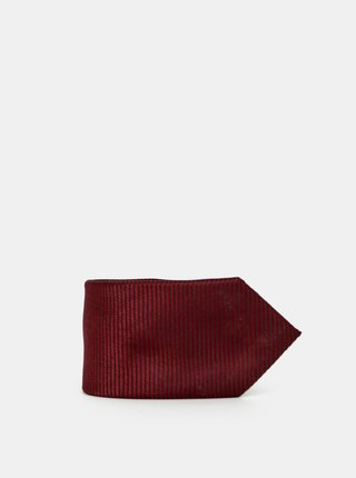Vínová vzorovaná kravata Selected Homme Hudson