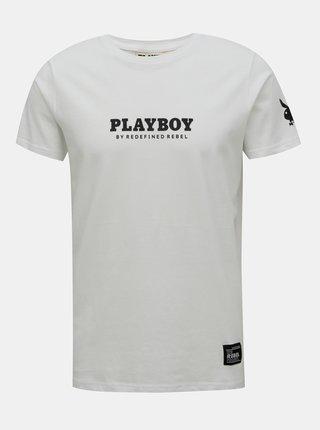 Bílé tričko s potiskem na zádech Redefined Rebel