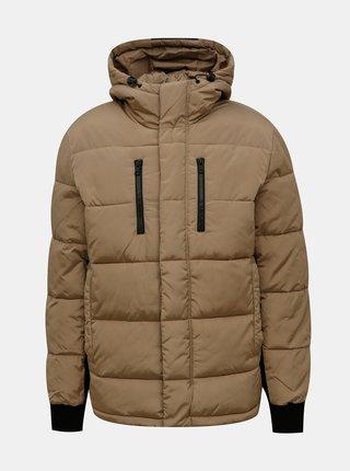 Světle hnědá zimní prošívaná bunda Redefined Rebel