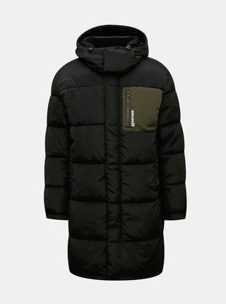 Čierna zimná prešívaná dlhá bunda Redefined Rebel