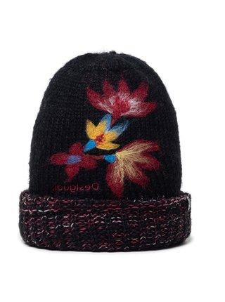 Desigual černá čepice Hat Twist