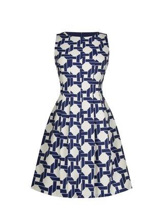 Rinascimento vzorované modré šaty