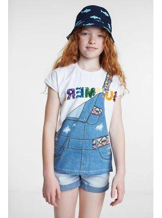 Desigual bílé dívčí tričko TS Leicester