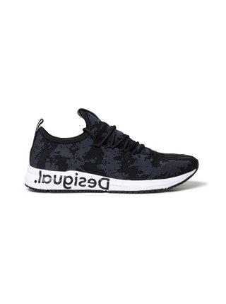 Desigual černé tenisky Shoes Runner Knit Sock Low
