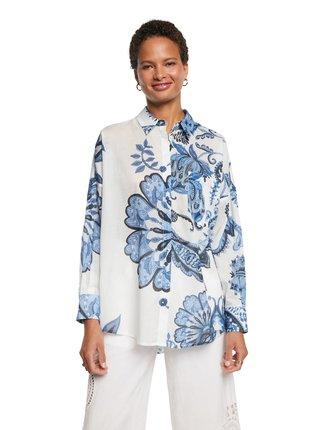 Desigual bílo-modrá košile Cam Inara
