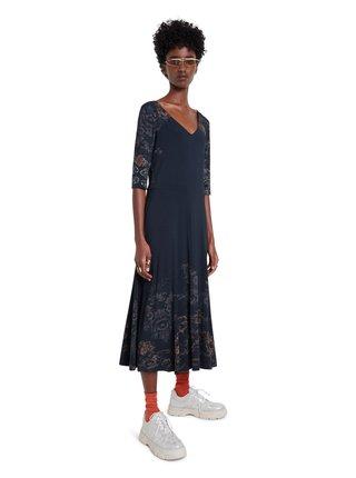 Desigual černé midi šaty Vest Vero