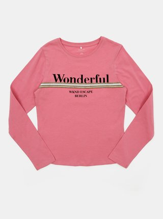 Růžové holčičí tričko name it Olefine