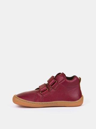 Vínové dětské kožené boty Froddo