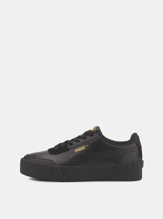 Černé dámské kožené tenisky na platformě Puma