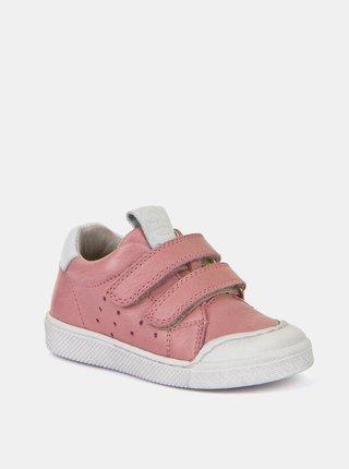 Růžové holčičí kožené tenisky Froddo