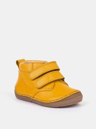 Žluté dětské kožené boty Froddo