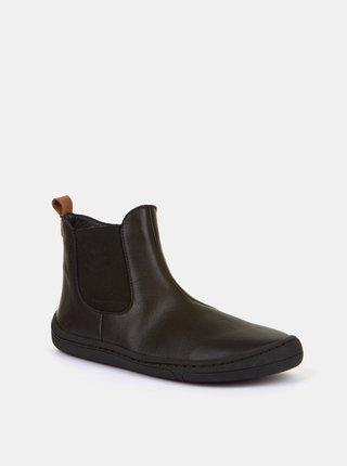 Černé dětské kožené boty Froddo