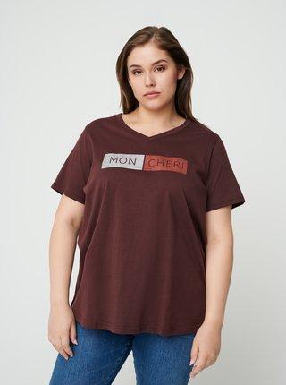 Vínové tričko s potiskem Zizzi
