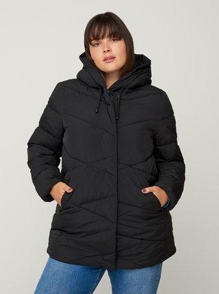 Čierna zimná prešívaná bunda Zizzi