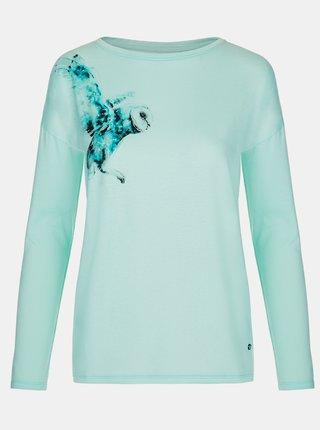 Modré dámské tričko s potiskem LOAP