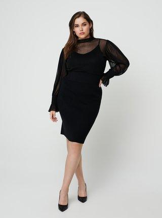 Černá pouzdrová sukně Zizzi