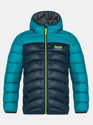 Modrá chlapecká prošívaná zimní bunda LOAP