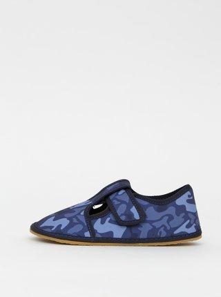 Modré chlapčenské maskáčové papuče 3F