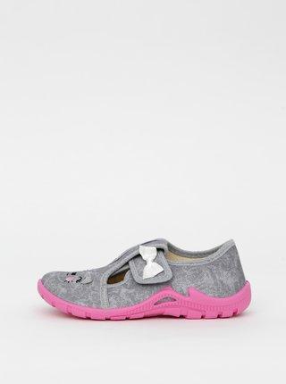 Šedé dievčenské topánky 3F
