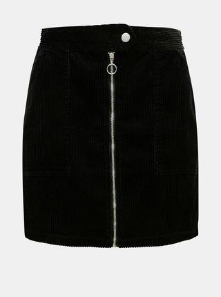 Čierna menčestrová sukňa Jacqueline de Yong Kira